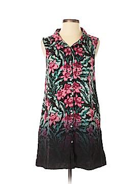 Mink Pink Sleeveless Button-Down Shirt Size S
