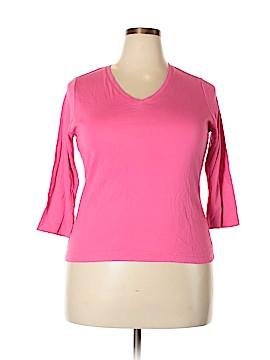 Carole Little 3/4 Sleeve Top Size 1X (Plus)