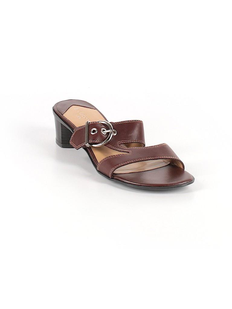 9256dd58d2a8 Liz Claiborne Solid Brown Sandals Size 7 1 2 - 64% off