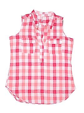 PASSPORTS Sleeveless Button-Down Shirt Size L