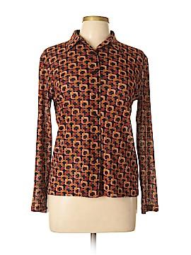 Kasper & Company ASL Long Sleeve Button-Down Shirt Size M