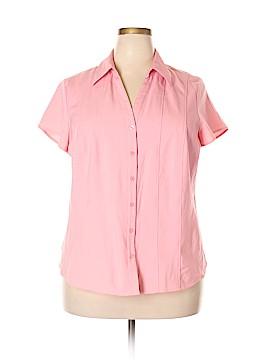 Style&Co Short Sleeve Blouse Size 18W (Plus)