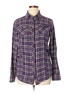 Rubbish Long Sleeve Button-Down Shirt Size XL