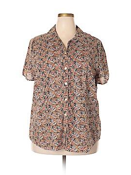 Liz Claiborne Short Sleeve Button-Down Shirt Size 3X (Plus)