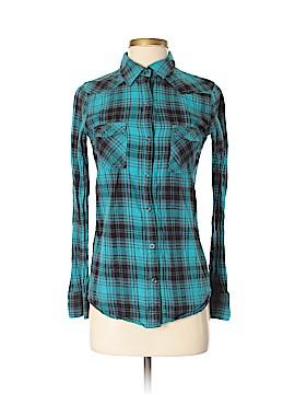 Kirra Long Sleeve Button-Down Shirt Size XS