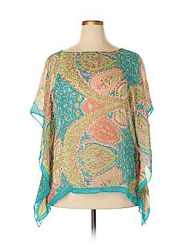 Talbots Short Sleeve Silk Top Size 0X - 1X (Plus)