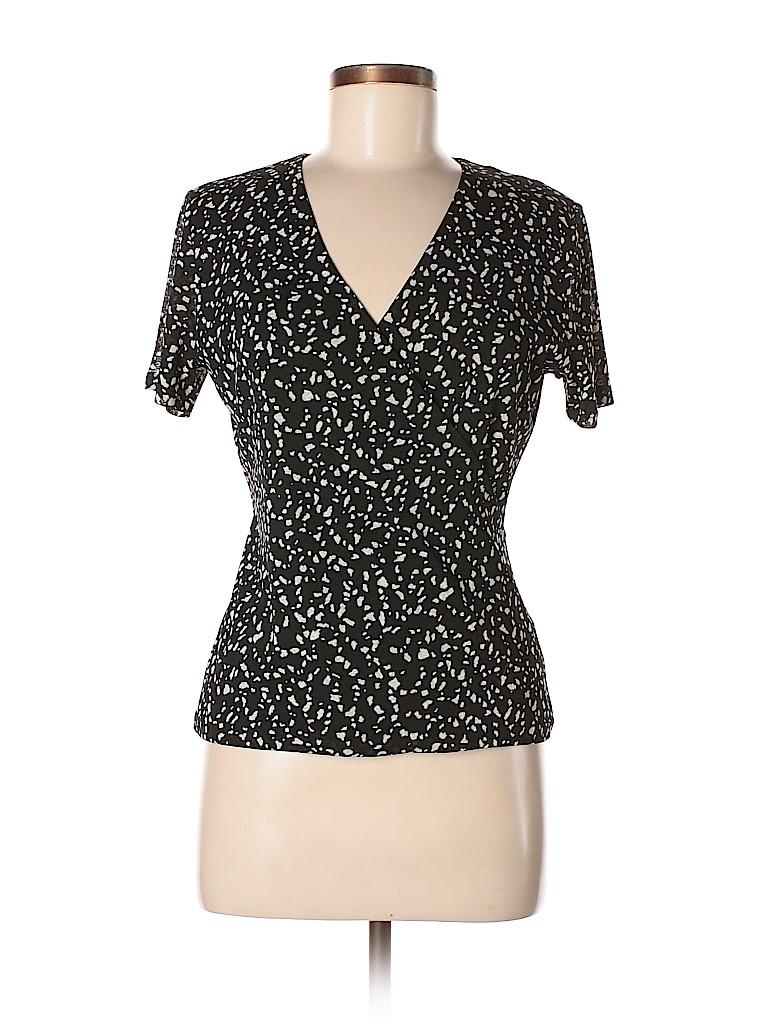 Jones New York Collection Women Short Sleeve Blouse Size S