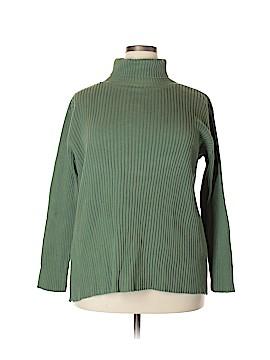 Ballinger Gold Turtleneck Sweater Size 1X (Plus)