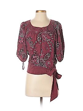 Nine West 3/4 Sleeve Silk Top Size XS