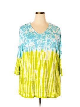 Ulla Popken 3/4 Sleeve T-Shirt Size 22 (Plus)