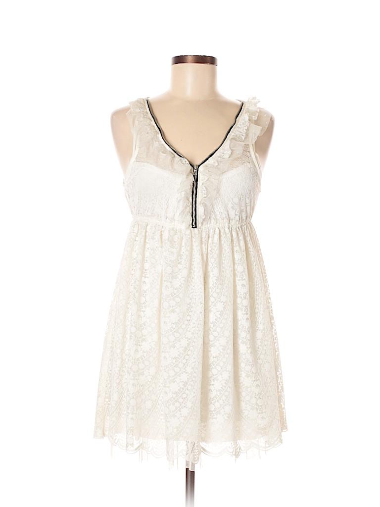 926f00aa77dd Zara 100% Nylon Lace White Casual Dress Size M - 47% off