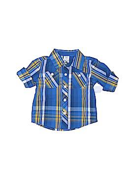 Toughskins Short Sleeve Button-Down Shirt Size 12 mo