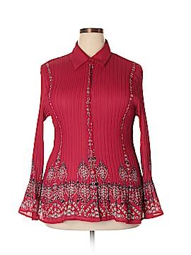 Sunny Leigh Long Sleeve Blouse Size 2X (Plus)