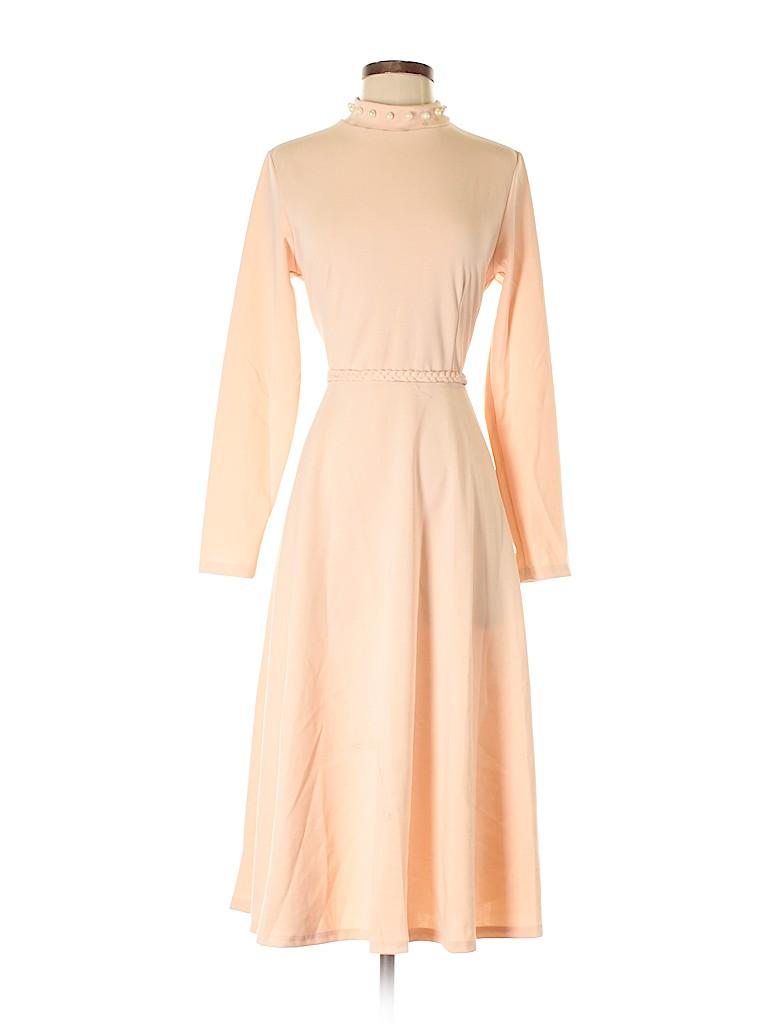 70876dea22f Avenue Solid Light Pink Cocktail Dress Size M (Plus) - 64% off