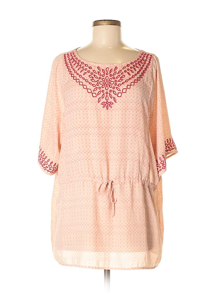 One September Women Short Sleeve Blouse Size M