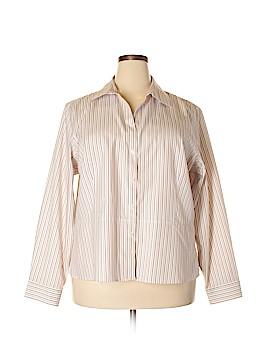Evan Picone Long Sleeve Button-Down Shirt Size 24W (Plus)