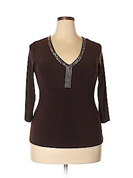 Caren Sport 3/4 Sleeve Top Size 1X (Plus)