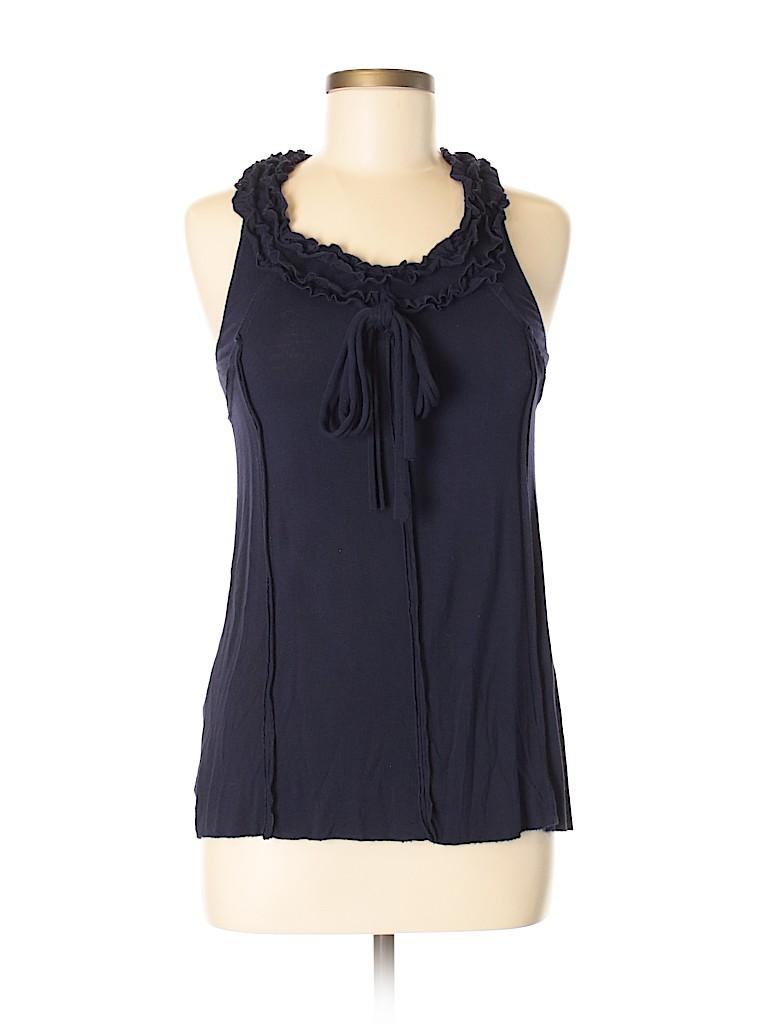 Blue Velvet Women Sleeveless Top Size S