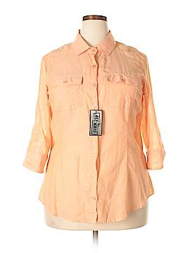 Ali & Kris 3/4 Sleeve Button-Down Shirt Size 1X (Plus)