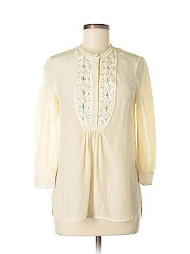 Tory Burch 3/4 Sleeve Silk Top Size 4