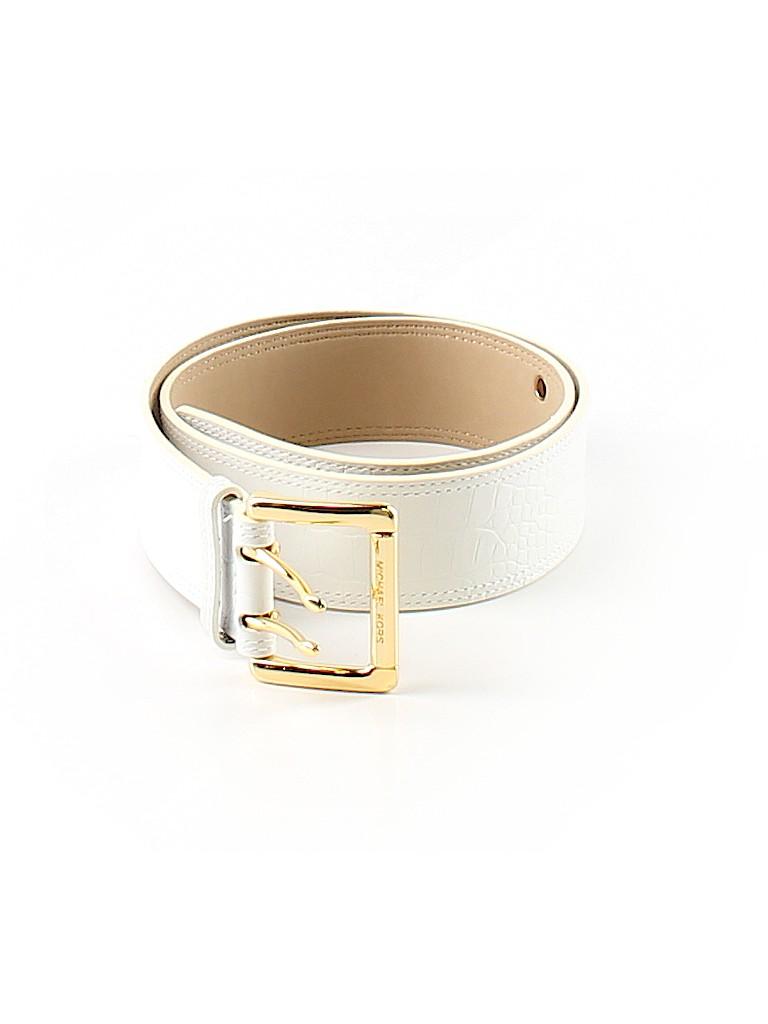 adcc99784a4c MICHAEL Michael Kors 100% Leather Animal Print White Leather Belt ...