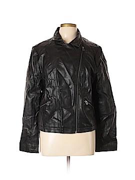Ann Taylor LOFT Faux Leather Jacket Size XL