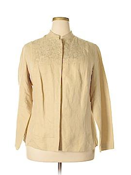 Laura Ashley Long Sleeve Silk Top Size 1X (Plus)