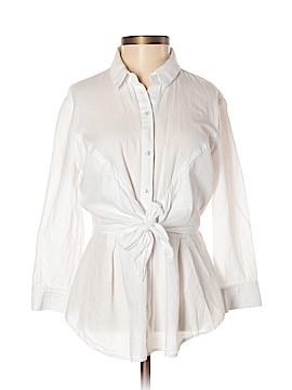 HD in Paris 3/4 Sleeve Button-Down Shirt Size 0