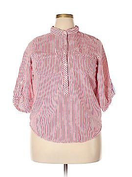 Tommy Hilfiger 3/4 Sleeve Button-Down Shirt Size XL