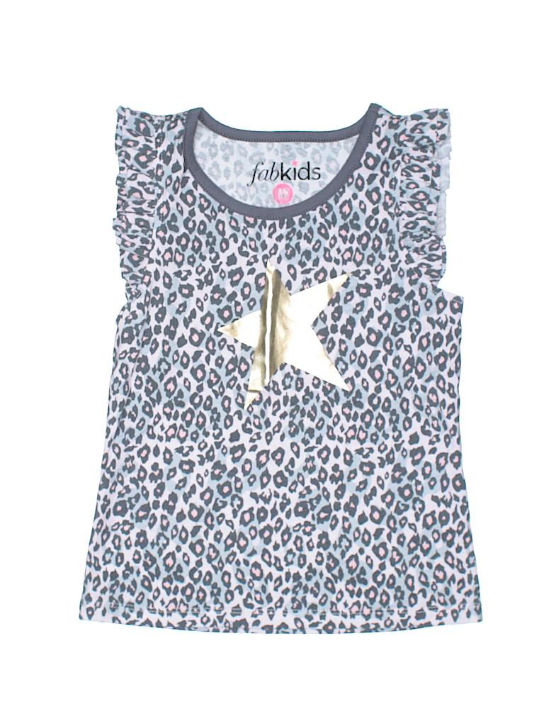 Fab Kids Girls Short Sleeve T-Shirt Size 6 - 7