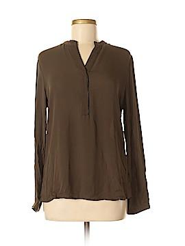 Ecru Long Sleeve Silk Top Size M