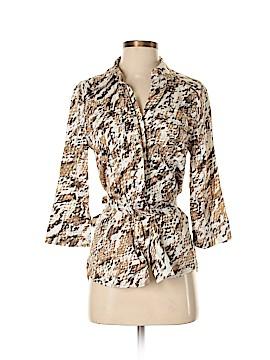 Diva by Dana Buchman 3/4 Sleeve Button-Down Shirt Size XS
