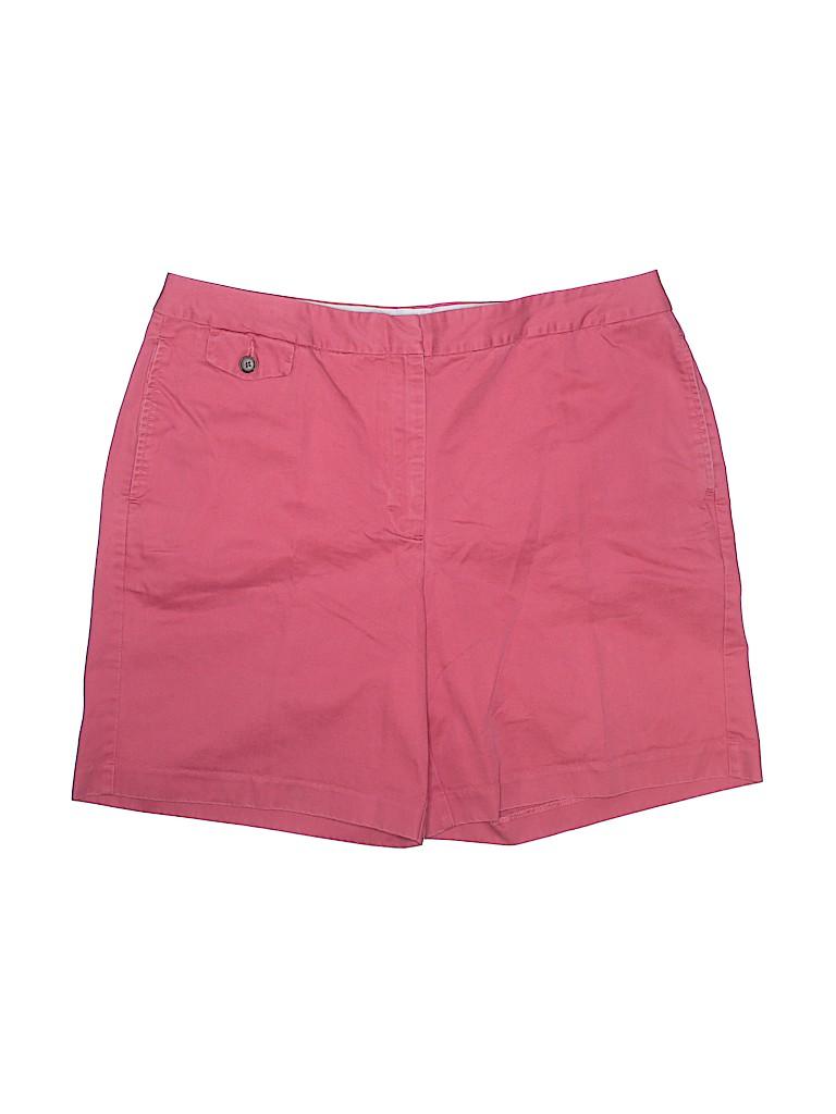 Lands' End Women Khaki Shorts Size 14