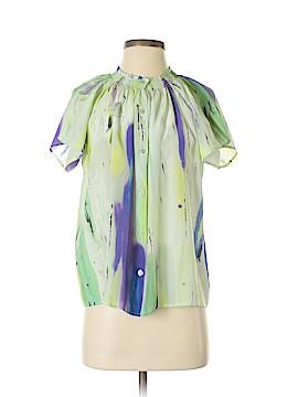 Tucker Short Sleeve Silk Top Size M