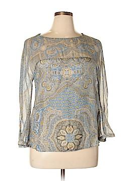 Massimo Dutti Long Sleeve Silk Top Size 14
