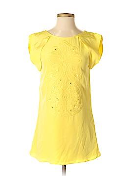 Tibi Short Sleeve Silk Top Size 4
