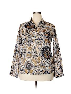 Zara Basic Long Sleeve Button-Down Shirt Size XXL