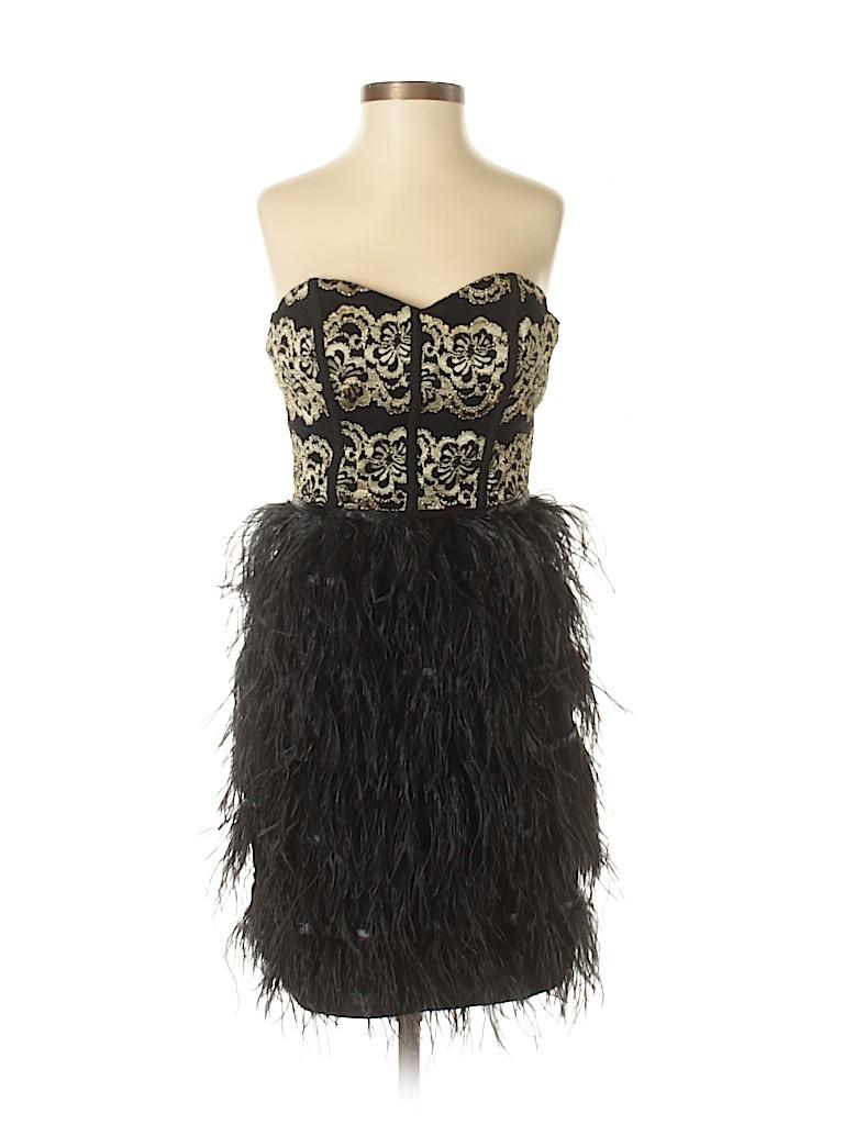 7dbf037c74 Gianni Bini Floral Metallic Black Cocktail Dress Size S - 71% off ...