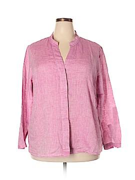 Nic + Zoe Long Sleeve Button-Down Shirt Size 1X (Plus)