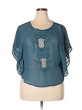 B.wear Short Sleeve Blouse Size XL