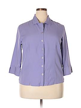 Karen Scott 3/4 Sleeve Blouse Size XL