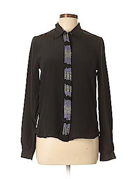 Gryphon New York Long Sleeve Silk Top Size M