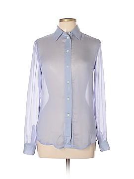 Prada Long Sleeve Silk Top Size 42 (IT)