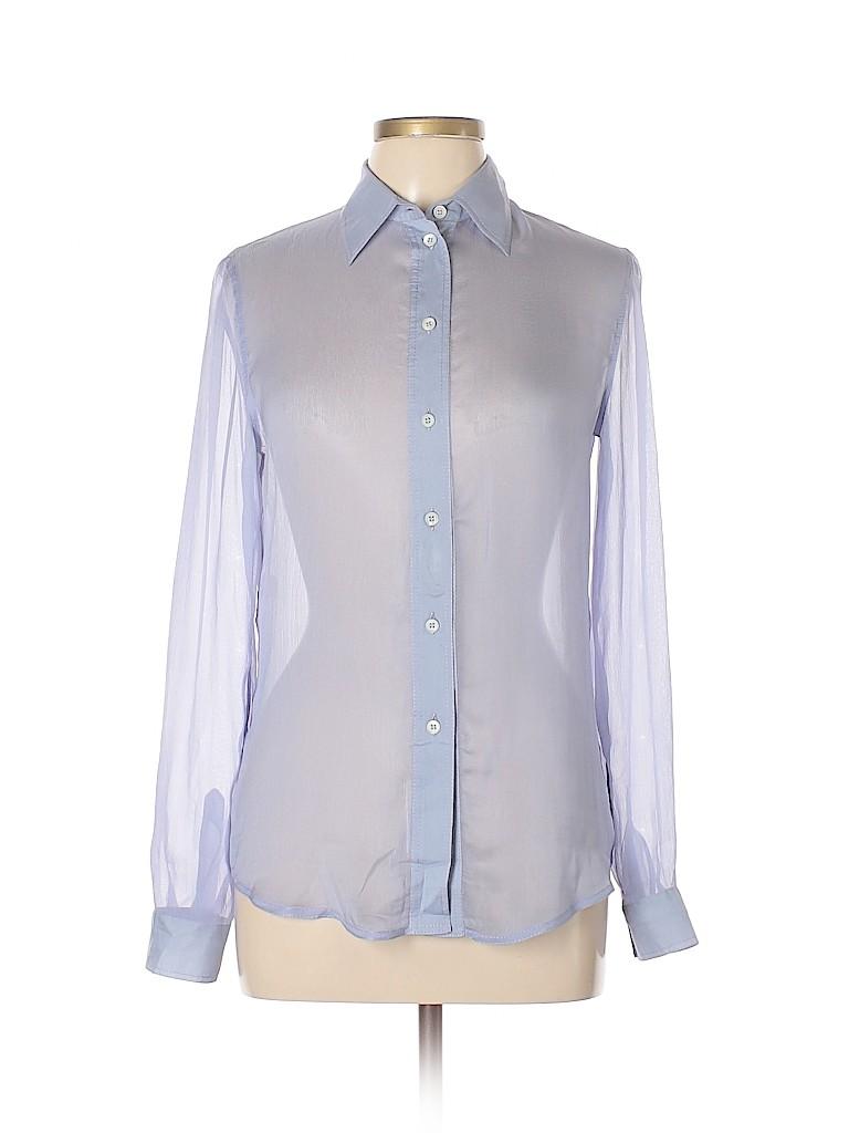 64f5f68357caf Prada 100% Silk Light Purple Long Sleeve Silk Top Size 42 (IT) - 87 ...