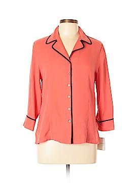 Sag Harbor 3/4 Sleeve Silk Top Size 10