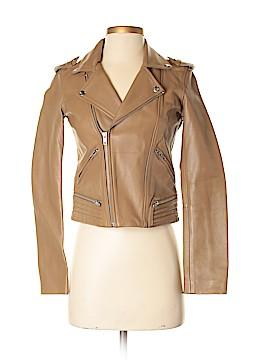 Maje Faux Leather Jacket Size 36 (FR)