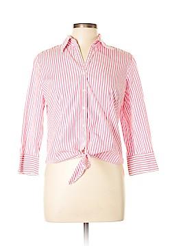 Ann Taylor LOFT 3/4 Sleeve Button-Down Shirt Size 10