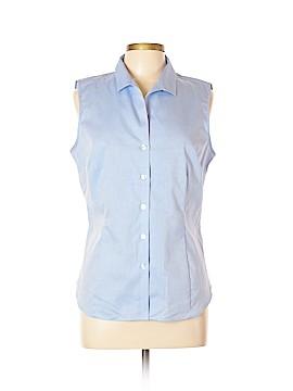 Jones New York Sleeveless Button-Down Shirt Size L