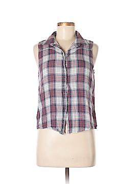 Mo:Vint Sleeveless Button-Down Shirt Size M