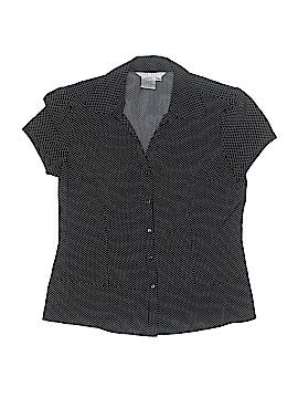 Fred David Short Sleeve Blouse Size L (Petite)
